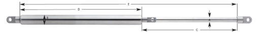 Adjustable Force Tension Gas Spring